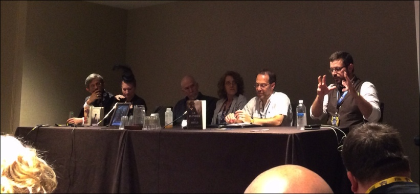 Bending Historical Tradition in Fiction Panel (Left to Right): Doug Groves (?), Leanna Renee Hieber, Clay and Susan Griffith, David B. Coe (D. B. Jackson), Michael J. Martinez
