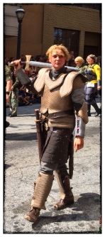 She made an awesome Brienne of Tarth from Game of Thrones