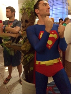 Dancing Superman and Dancing Groot