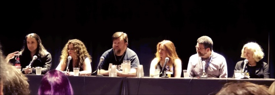 Monster Menagerie in Urban Fantasy Panel (Left to Right): Jim Butcher, Laurell K. Hamilton, John Hartness, Linda Robertson, Christopher Golden, Kat Richardson